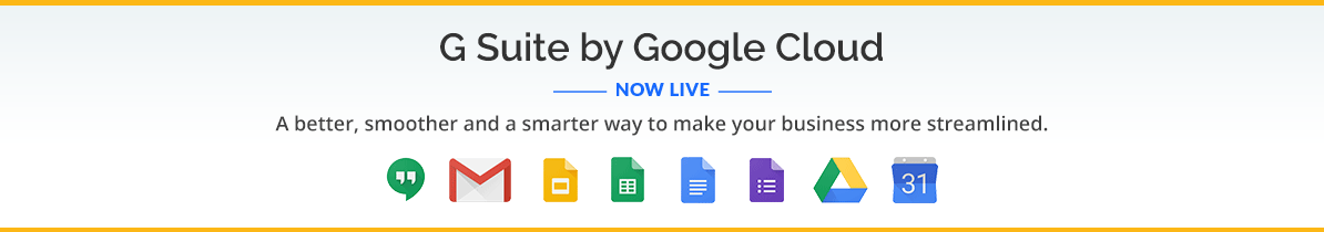 G Suite by Google Cloud – Intelligent apps for your business